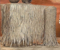 FIRE RETARDANT<br>Two - 4ft x 20ft Palm Grass Tiki Thatch Roll