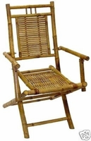 Folding Armrest 2 bamboo Patio Chairs