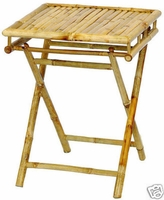 Bamboo TV Trays | Folding TV Tray Tables | Tiki Shack Importer