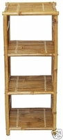 Shelf Bamboo End Table Shelves