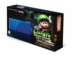 Nintendo 3DS Cobalt Blue System With Luigi's Mansion: Dark Moon Bundle