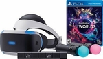 PlayStation 4 Virtual Reality Bundle: PSVR Headset + 2 Move Controllers + PS Camera + VR Worlds Game