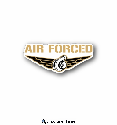 air forced - Racing Sticker - Vinyl Sticker