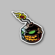 angry bomb - Racing Sticker - Vinyl Sticker