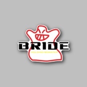 Bride Holding monster - Racing Sticker - Vinyl Sticker