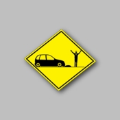 Caution car crash - Racing Sticker - Vinyl Sticker