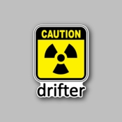 caution drifter - Racing Sticker - Vinyl Sticker