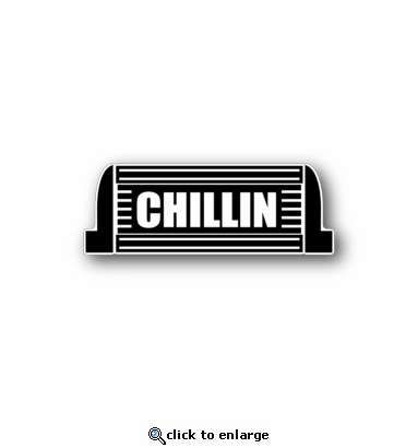 chillin - Racing Sticker - Vinyl Sticker