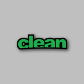 Clean - Racing Sticker - Vinyl Sticker