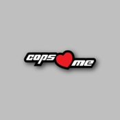 Cops Love me - Racing Sticker - Vinyl Sticker