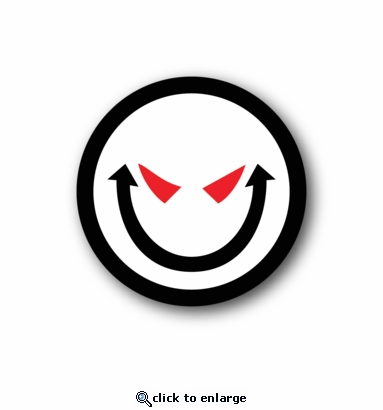 Creepy Smiley - Racing Sticker - Vinyl Sticker