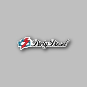 Dirty Diesel - Racing Sticker - Vinyl Sticker