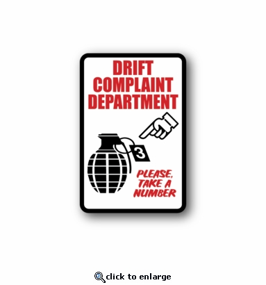 drift complaint department - Racing Sticker - Vinyl Sticker