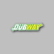 DubWay - Racing Sticker - Vinyl Sticker