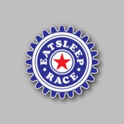 eat sleep race - Racing Sticker - Vinyl Sticker