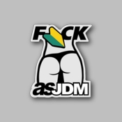 fuck as jdm - Racing Sticker - Vinyl Sticker