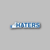 fuck haters - Racing Sticker - Vinyl Sticker