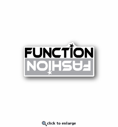 Fuction Fashion - Racing Sticker - Vinyl Sticker