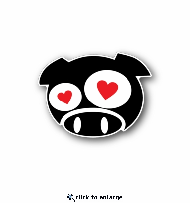Grumpy Heart - Racing Sticker - Vinyl Sticker