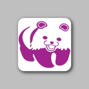 happy panda - Racing Sticker - Vinyl Sticker