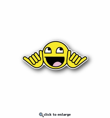 Happy Smiley - Racing Sticker - Vinyl Sticker