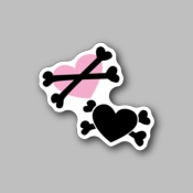 Heart and bones - Racing Sticker - Vinyl Sticker