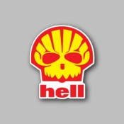 hell - Racing Sticker - Vinyl Sticker