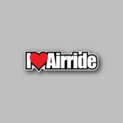 I Love Airride - Racing Sticker - Vinyl Sticker