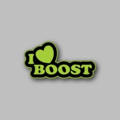 I love boost - Racing Sticker - Vinyl Sticker