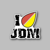 I love jdm - Racing Sticker - Vinyl Sticker