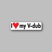 I love my V-Dub - Racing Sticker - Vinyl Sticker