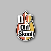 I Love Old School - Racing Sticker - Vinyl Sticker
