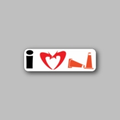 I love to crash - Racing Sticker - Vinyl Sticker
