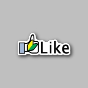 JDM Facebook Like - Racing Sticker - Vinyl Sticker