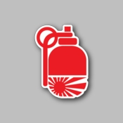 JDM Fire Extinguisher - Racing Sticker - Vinyl Sticker