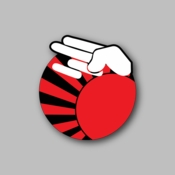 JDM Hand Sign - Racing Sticker - Vinyl Sticker