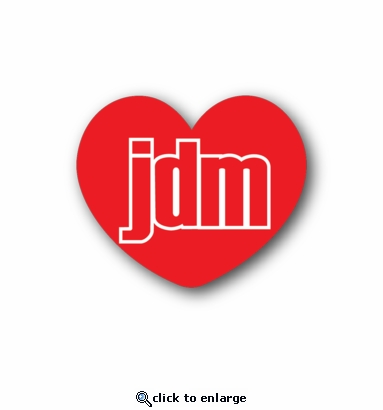 JDM heart - Racing Sticker - Vinyl Sticker