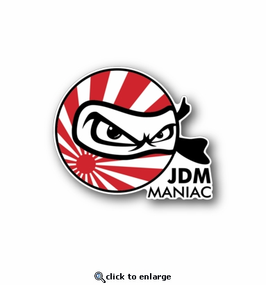 JDM maniac - Racing Sticker - Vinyl Sticker
