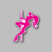 jdm pole dancer - Racing Sticker - Vinyl Sticker