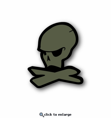 JDM Skull - Racing Sticker - Vinyl Sticker