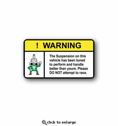 JDM Warning - Racing Sticker - Vinyl Sticker