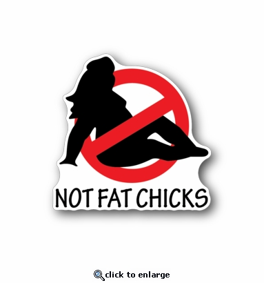 No fat chicks racing sticker vinyl sticker