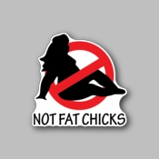 No Fat Chicks - Racing Sticker - Vinyl Sticker