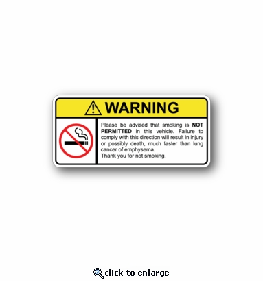 No smoking - Racing Sticker - Vinyl Sticker