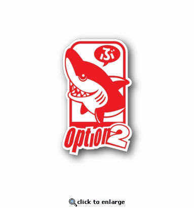 option2 - Racing Sticker - Vinyl Sticker
