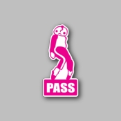 pass - Racing Sticker - Vinyl Sticker