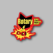 rotary kills pistons dead - Racing Sticker - Vinyl Sticker