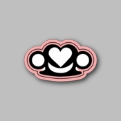 Smiling Heart - Racing Sticker - Vinyl Sticker