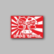 Speed Addict - Racing Sticker - Vinyl Sticker