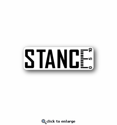 Stance - Racing Sticker - Vinyl Sticker